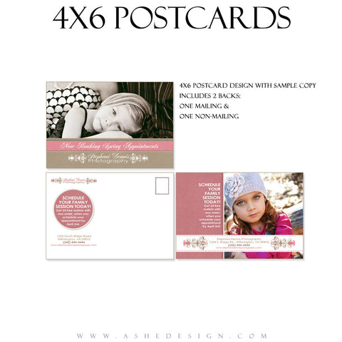 Marketing Post Card 4x6 - Raspberry Cream