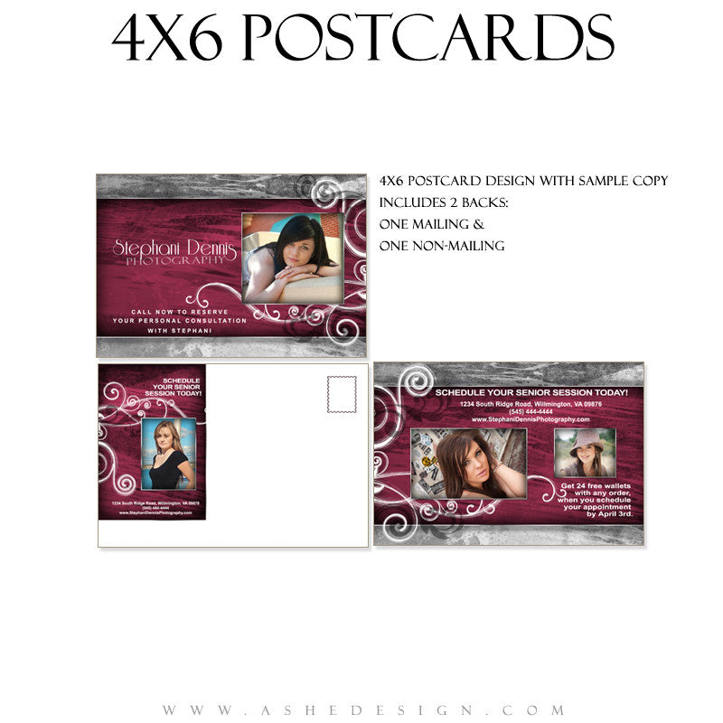 Marketing Post Card 4x6  - Steel Magnolia