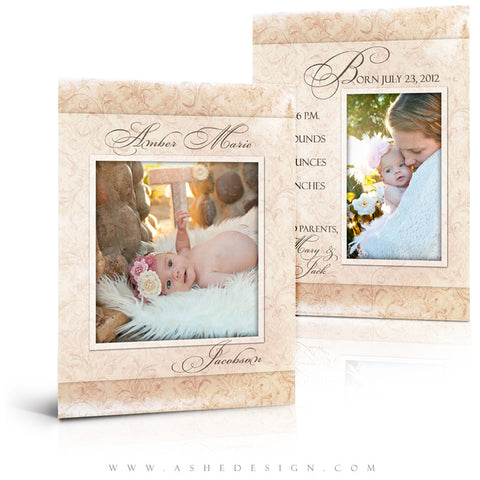 Flat Birth Announcement Templates | Amber Marie