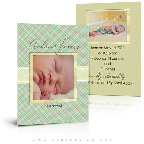 Flat Birth Announcement | Andrew James