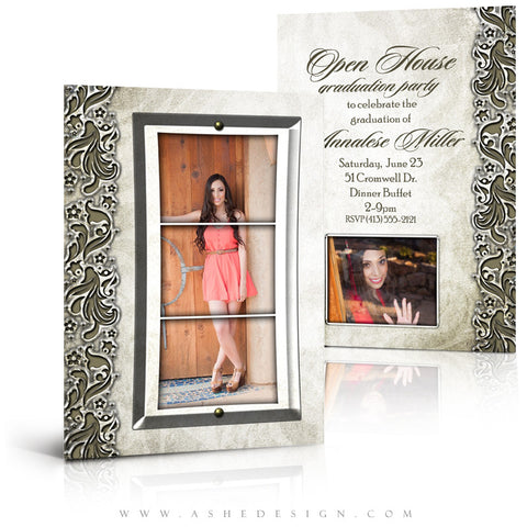 5x7 Flat Senior Girl Card - Annalese