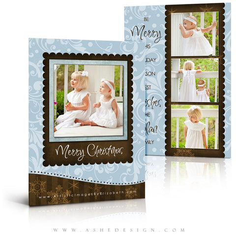 5x7 Flat Christmas Card - Be Merry