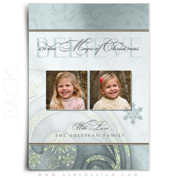 5x7 Flat Christmas Card - Believe