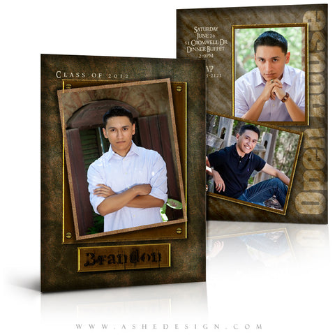 5x7 Flat Card Graduation Invitation - Brandon