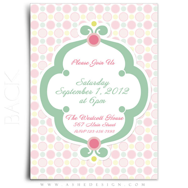 5x7 Flat Card Birthday Invitation - Bubble Gum Pink