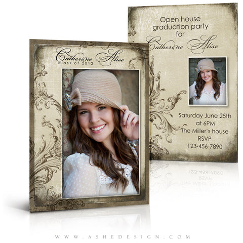 5x7 Flat Graduation Card - Catherine Alise