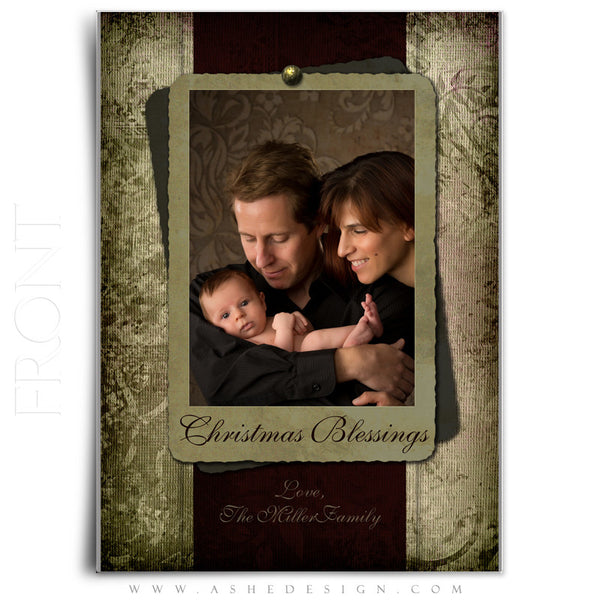 5x7 Flat Christmas Card - Christmas Blessings