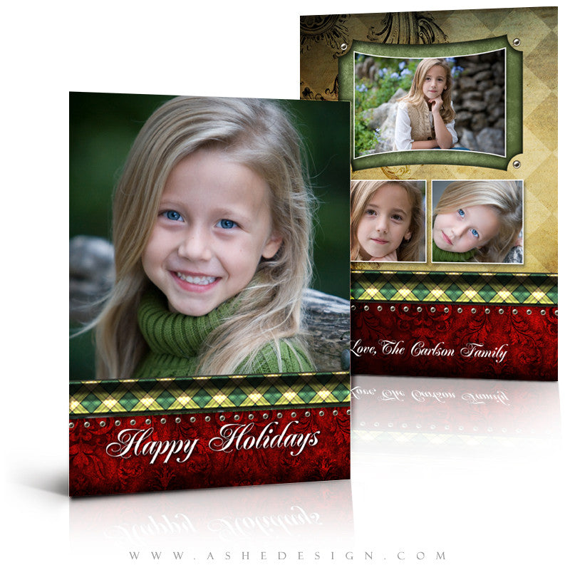 5x7 Flat Christmas Card - Christmas Couture