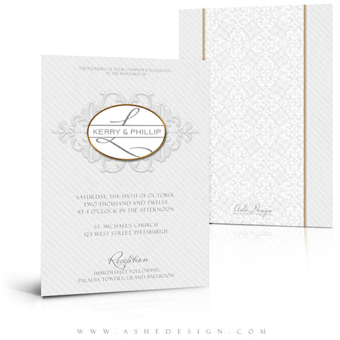 5x7 Flat Wedding Invitation - Embossed