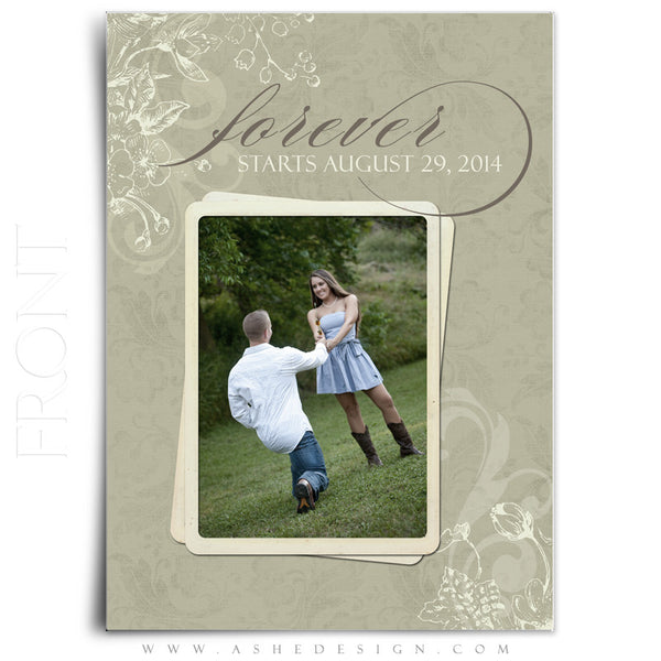 5x7 Flat Save The Date Card - Forever