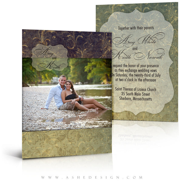 5x7 Flat Wedding Invitation - Forever After