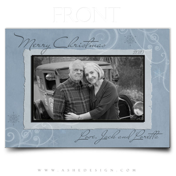 5x7 Flat Christmas Card - Frosted
