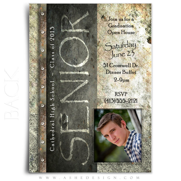 5x7 Flat Graduation Card  - Granite