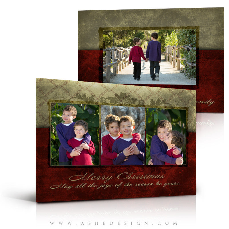 5x7 Flat Christmas Card - Holiday Luxury