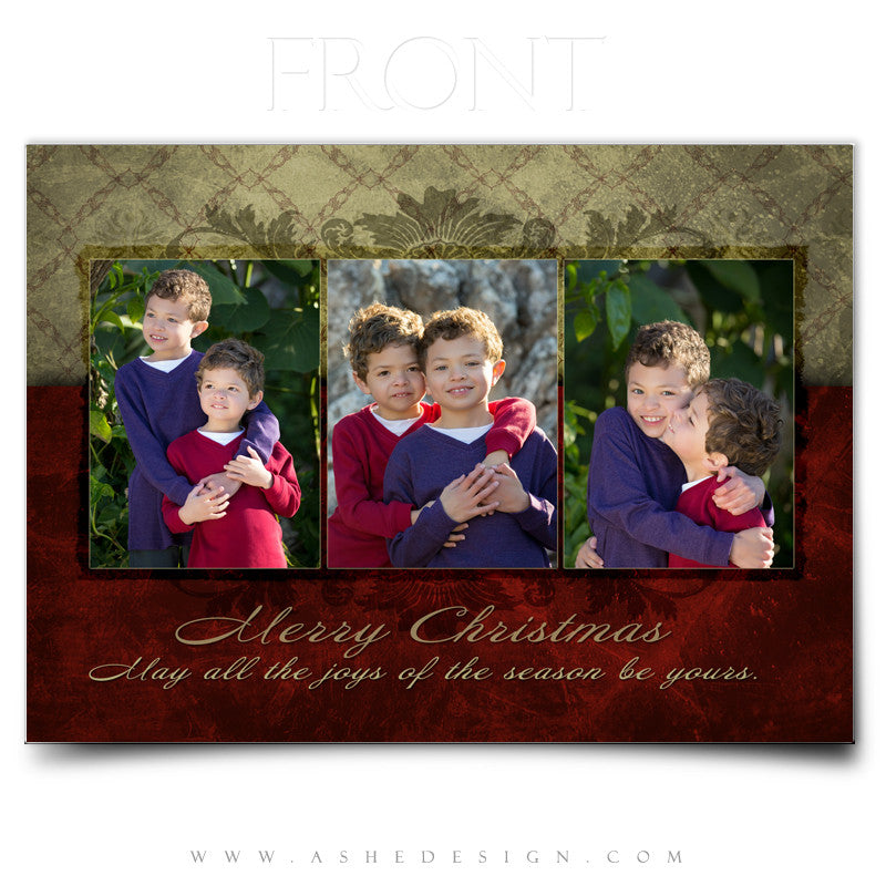 Christmas Card 5x7 Flat | Holiday Luxury – AsheDesign