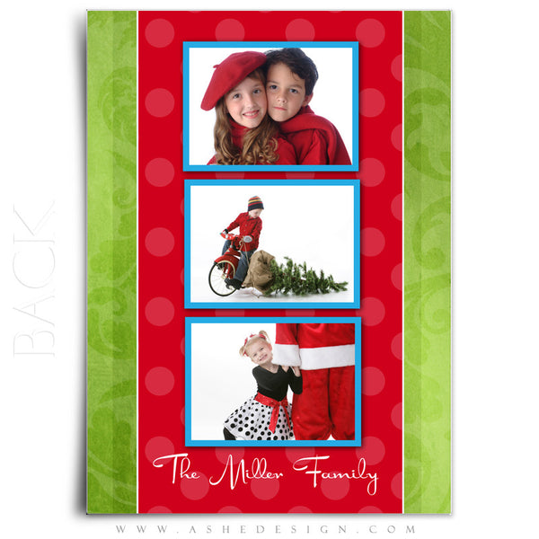 5x7 Flat Christmas Card - Holly Jolly Christmas