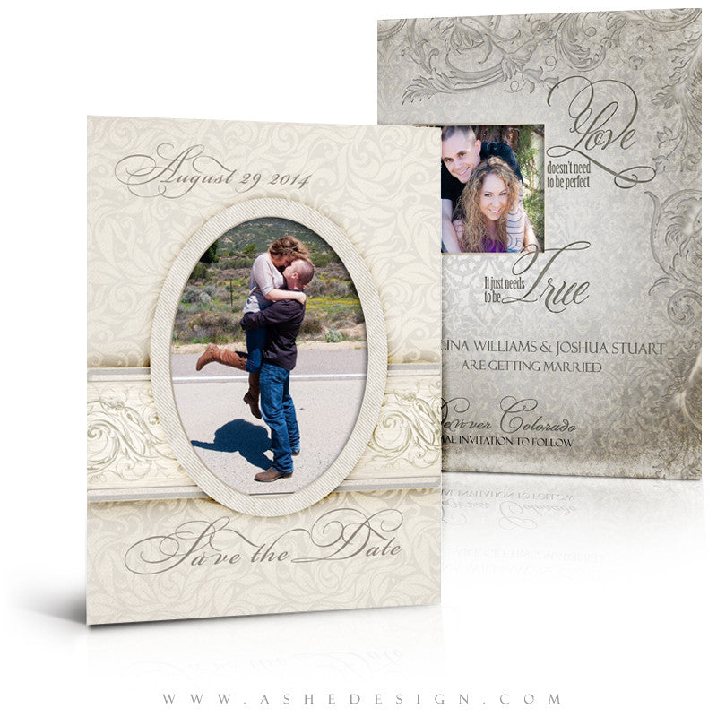 5x7 Flat Save The Date Card  - I Do