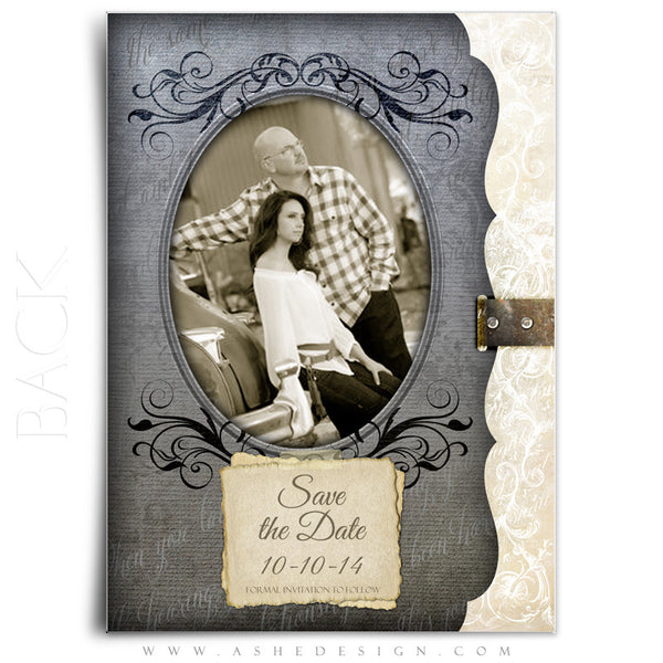 5x7 Flat Save The Date Card - Love Is