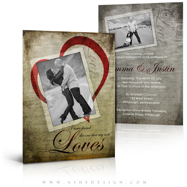 5x7 Flat Card Design - Love Letters