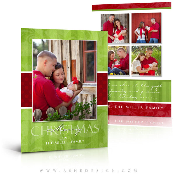 5x7 Flat Christmas Card - Merry & Bright