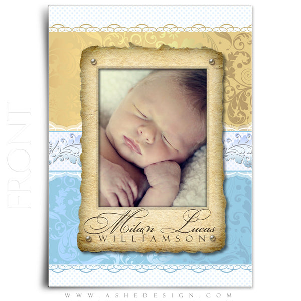 Milan Lucas Birth Announcement Template