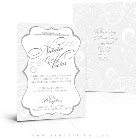 5x7 Flat Wedding Invitation - On This Day