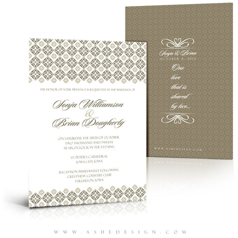 5x7 Flat Wedding Invitation - Our Destiny