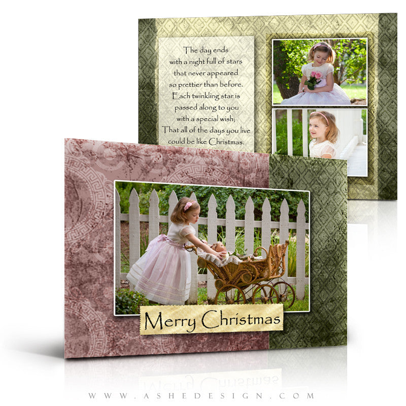 5x7 Flat Christmas Card - Pear Berry