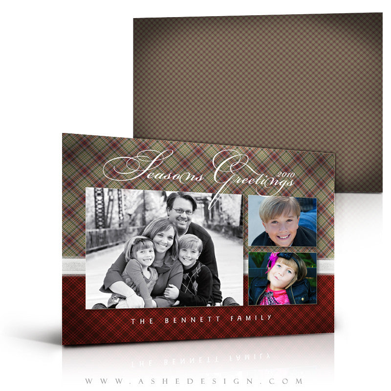 5x7 Flat Christmas Card - Perfectly Plaid