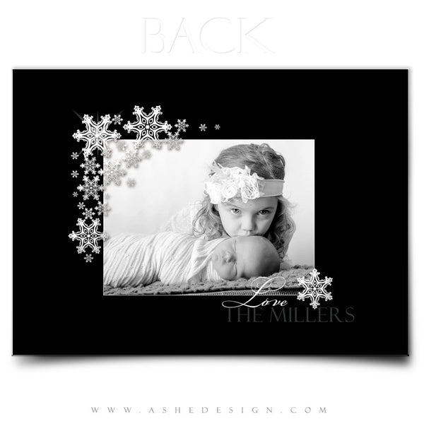 5x7 Flat Christmas Card - Silent Night
