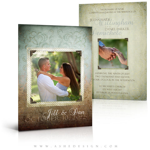 5x7 Flat Wedding Invitation - Something Old