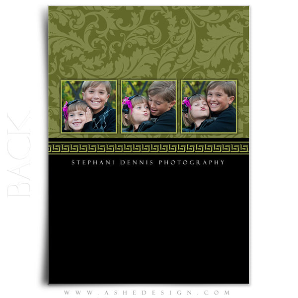 5x7 Flat Christmas Card - Sophisticated