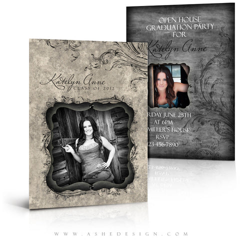5x7 Flat Graduation Card - Timeless Beauty