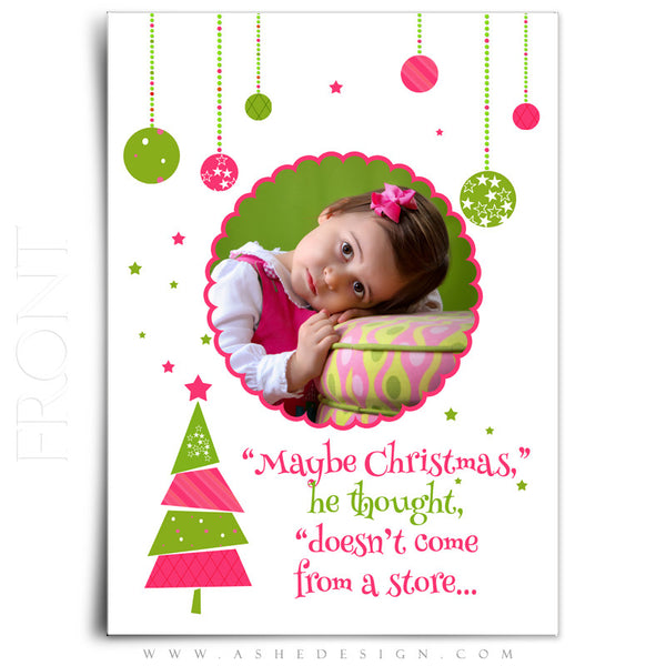 5x7 Flat Christmas Card - Whimsical Christmas