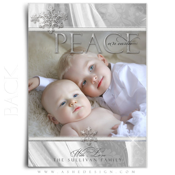 5x7 Flat Christmas Card - White Christmas