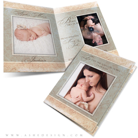 Folded Birth Announcement Templates| Amber Marie