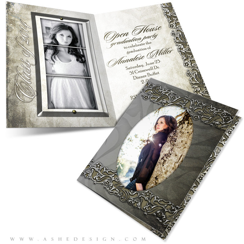 5x7 Folded Senior Girl Card - Annalese