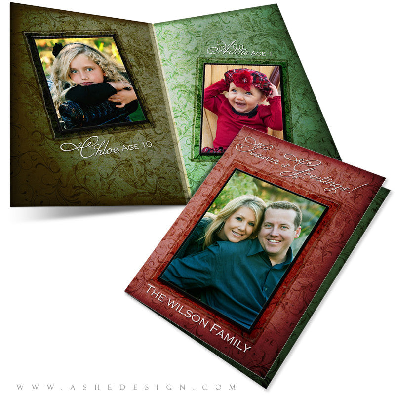 5x7 Folded Holiday Card - Christmas Memories