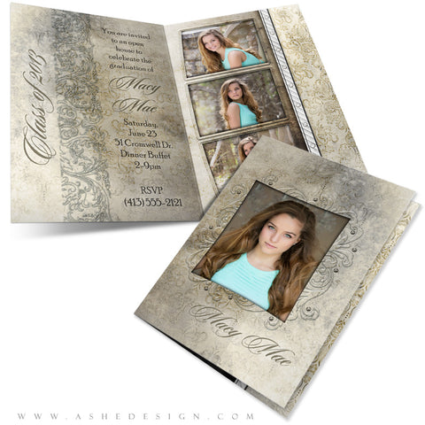 5x7 Folded Senior Girl Graduation Card - Macy Mae