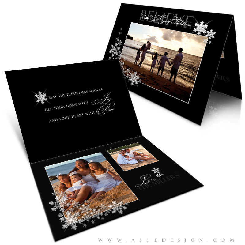 5x7 Folded Card Design - Silent Night