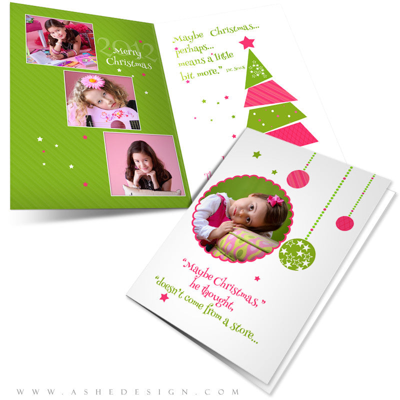 5x7 Folded Card Design - Whimsical Christmas