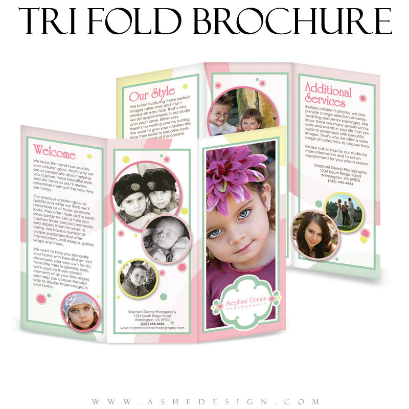 8.5x11 Tri-Fold Brochure - Bubble Gum