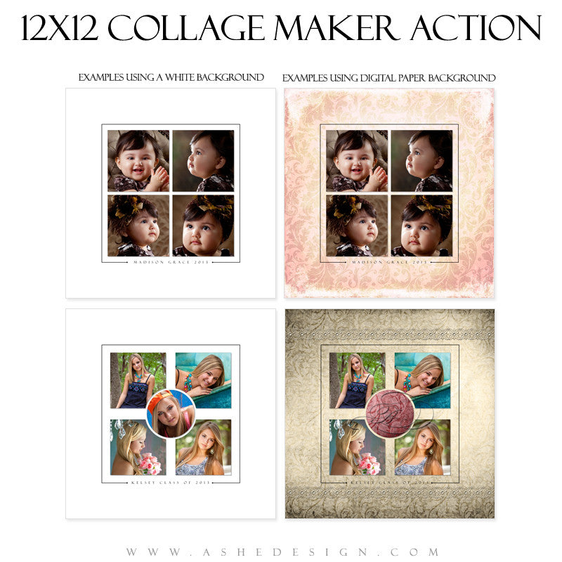Photoshop Action - 12x12 Collage Maker