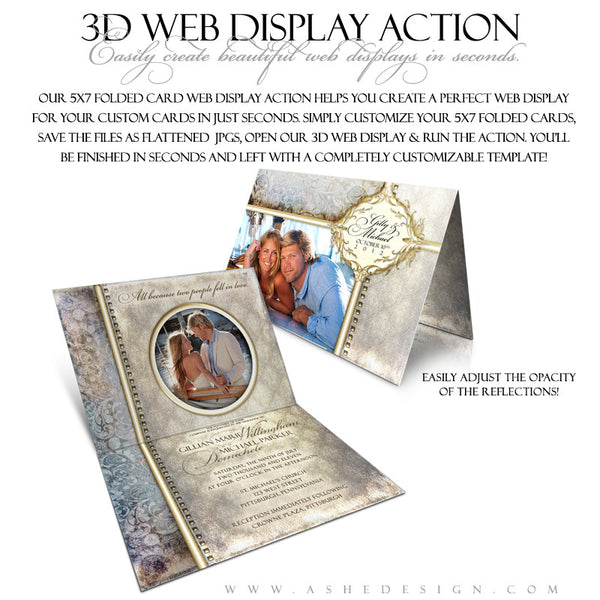 Ashe Design | Photoshop Action | 5x7 Folded Card 3D Mockup2