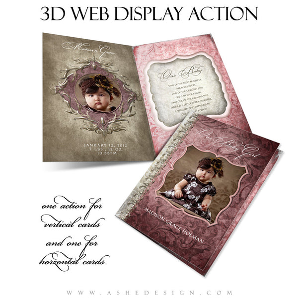 Ashe Design | Photoshop Action | 5x7 Folded Card 3D Mockup1