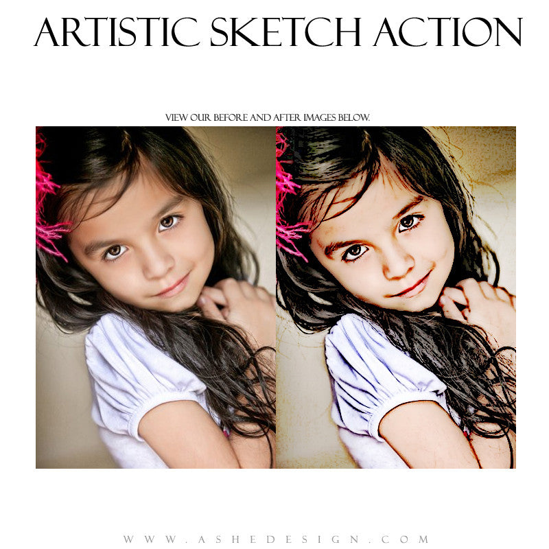 Ashe Design | Photoshop Action | Artistic Sketch1