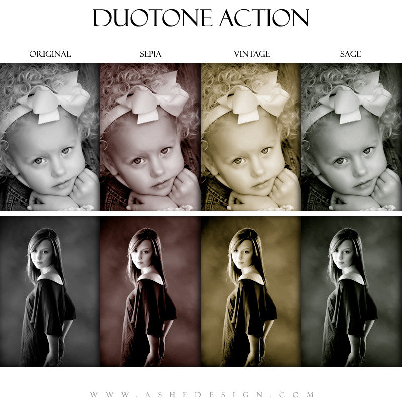 Ashe Design |  Photoshop Action | Duotone1
