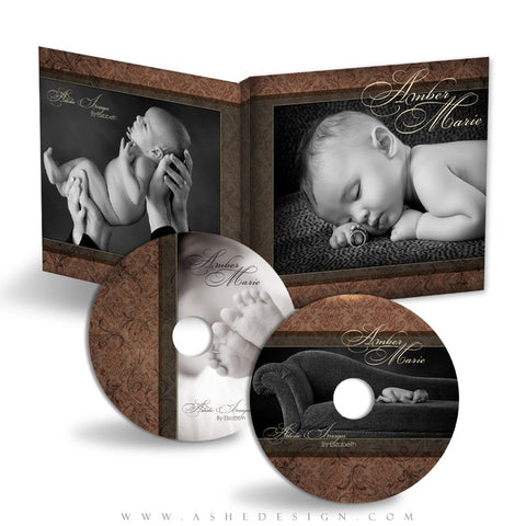 CD/DVD Labels & Case Template Set | Amber Marie