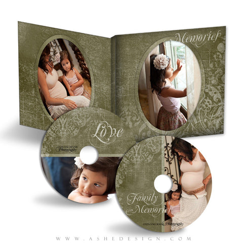 CD/DVD Label & Case Design Set - Cameo