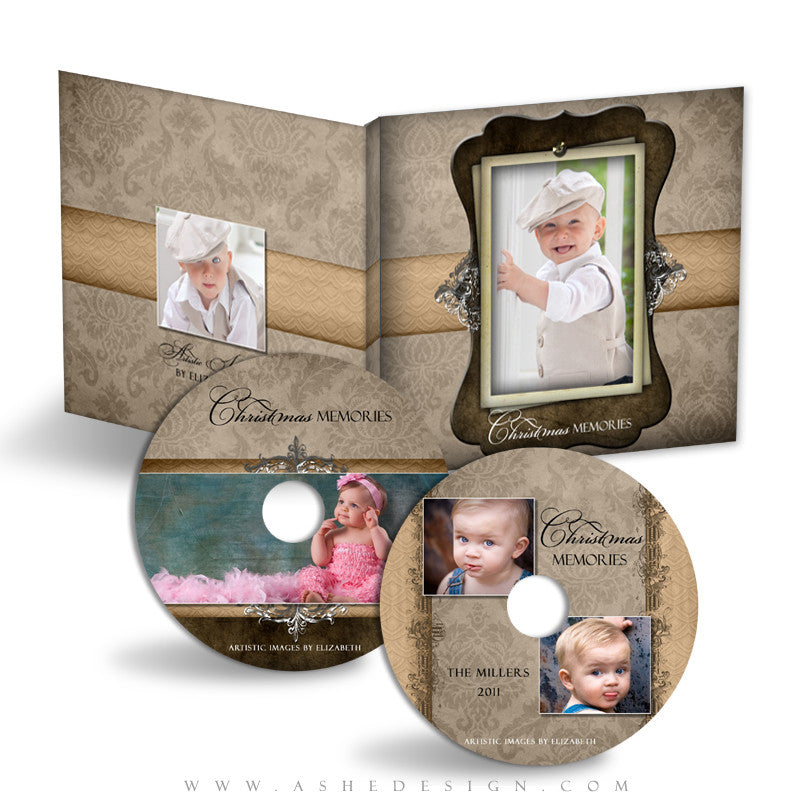 CD/DVD Label & Case Design Set - Chocolate Silk